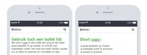 Bullet list is mobile first